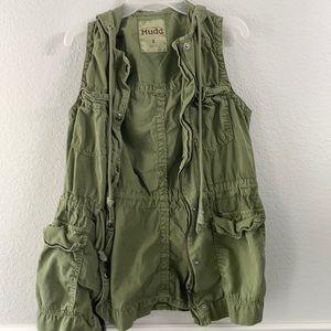 Mudd Military Vest Green Small